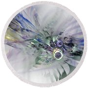 August Silk - Fractal Art Round Beach Towel