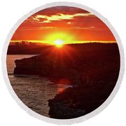 August Sunset From North Head Round Beach Towel