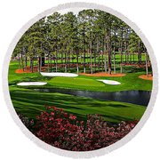 Augusta National Gc #16 Round Beach Towel