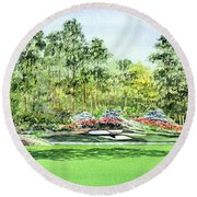 Augusta National Golf Course Round Beach Towel