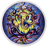 Aum Ganesha - Bliss Round Beach Towel