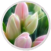 Aura Of Tulip Round Beach Towel