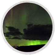 Aurora Activity Iceland Round Beach Towel