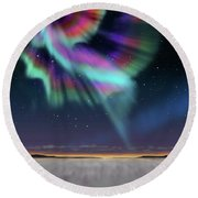 Aurora At Dawn Round Beach Towel