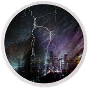 Aurora Round Beach Towel