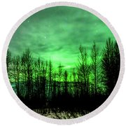 Round Beach Towel featuring the photograph Aurora In The Clouds by Bryan Carter