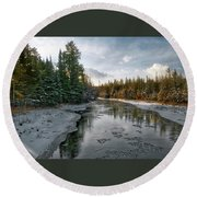 Ausable River 1282 Round Beach Towel