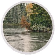 Ausable River 9899 Round Beach Towel
