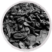 Auschwitz-birkenau Shoes Round Beach Towel