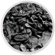 Auschwitz-birkenau Shoes Round Beach Towel by RicardMN Photography