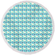 Aussie Dog Pattern Round Beach Towel