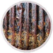Aussie Galvanised Iron #12 Round Beach Towel