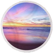 Aussie Sunset, Claytons Beach, Mindarie Round Beach Towel