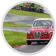Round Beach Towel featuring the photograph Austin A35  by Adrian Evans