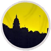 Austin Capital At Sunrise Round Beach Towel