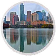Austin Shimmer  Round Beach Towel by Frozen in Time Fine Art Photography