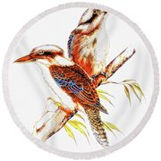 Round Beach Towel featuring the photograph Australian Kookaburra 666 by Kevin Chippindall