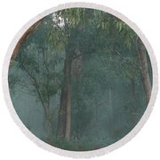 Australian Morning Round Beach Towel