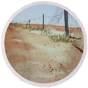 Australian Outback Track Round Beach Towel