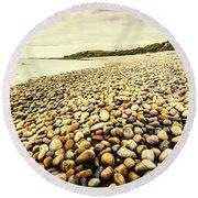Australian Rocky Shoreline Round Beach Towel