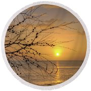 Round Beach Towel featuring the photograph Australian Sunrise by Geraldine Alexander