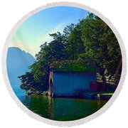 Austrian Alps Round Beach Towel
