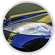 Auto Headlight 189 Round Beach Towel by Sarah Loft
