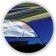 Auto Headlight 190 Round Beach Towel by Sarah Loft