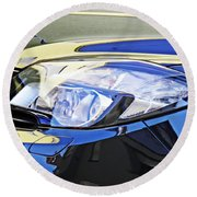 Auto Headlight 191 Round Beach Towel by Sarah Loft