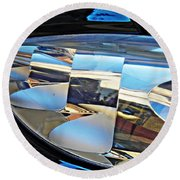 Auto Headlight 193 Round Beach Towel by Sarah Loft