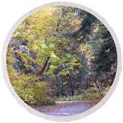 Autum Colors Round Beach Towel