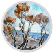 Autumn 12 Round Beach Towel