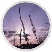 Autumn Alarm 03 Round Beach Towel