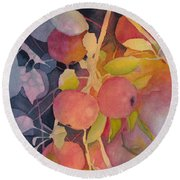 Autumn Apples Round Beach Towel
