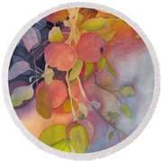 Autumn Apples Full Painting Round Beach Towel