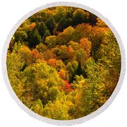 Autumn At Acadia Round Beach Towel