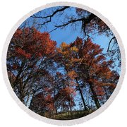 Autumn At Lebanon Hills Park 02 Round Beach Towel