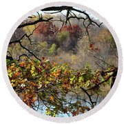 Autumn At Lebanon Hills Park Round Beach Towel
