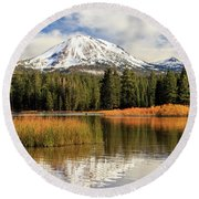 Round Beach Towel featuring the photograph Autumn At Mount Lassen by James Eddy
