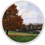 Autumn At Stirling Bridge Round Beach Towel