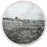 Round Beach Towel featuring the photograph Autumn At The Mouth Of The Big Sable 2.0 by Michelle Calkins