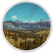 Autumn At The Weminuche Bells Round Beach Towel