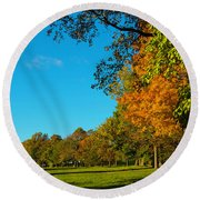 Autumn At World's End Round Beach Towel