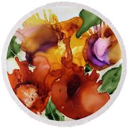 Autumn Bouquet Round Beach Towel