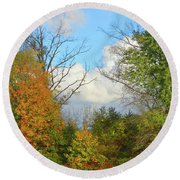 Autumn Breeze Nature Art Round Beach Towel