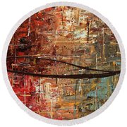 Autumn Round Beach Towel