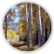 Autumn Chama New Mexico Round Beach Towel