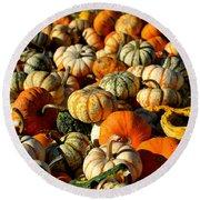 Autumn Colors Round Beach Towel by Barbara Bardzik