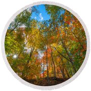 Autumn Colors  Round Beach Towel by Michael Ver Sprill