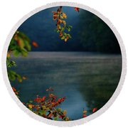 Round Beach Towel featuring the photograph Autumn Colors by Okan YILMAZ